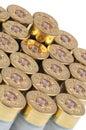 Cartridge with gunpowder Royalty Free Stock Photo