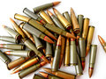 Cartridges of ak 47 7,65 mm Royalty Free Stock Photography