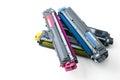 Cartridges of color laser printer Royalty Free Stock Image