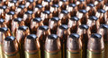 Cartridges to last hollow point bullets on for a forty four magnum Royalty Free Stock Photography