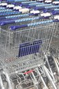Carts of the ahold albert heijn supermarkt royal supermarket with branches in netherlands belgium and united states america Royalty Free Stock Images