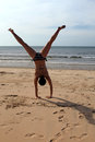 Cartwheels on the beach Stock Image