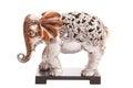Carved elephant isolated on white background Royalty Free Stock Photo
