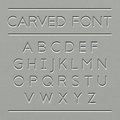 Carved font design Royalty Free Stock Photo