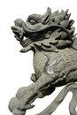 Carved oriental dragon Royalty Free Stock Images