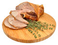 Carved Roast Leg Of Lamb Royalty Free Stock Photo