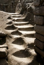 Carved Stairway - Machu Picchu - Peru Royalty Free Stock Photo