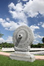 Carved stone Dhammajak Stock Photo