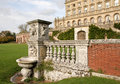 Carved Stone Wall in an English Stately Home Royalty Free Stock Photography