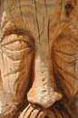 Carved in Wood Stock Photography
