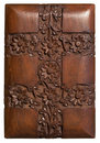Carved wood decorative floral panel Royalty Free Stock Photo