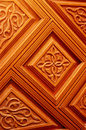 Carved in wood detail the work of moroccan artisans at the doors of the mosque coquimbo Stock Photos