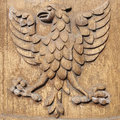 Carved Wood Eagle Royalty Free Stock Photography