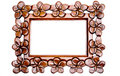 Carved Wood Frame Stock Image