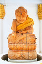 Carved wooden Buddha Stock Photography