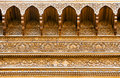 Carved wooden ceiling of a summerhouse Royalty Free Stock Photo
