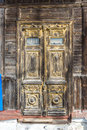 Carved wooden door of  old house, Russia Royalty Free Stock Photo