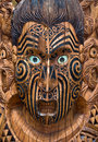 Carved wooden Maori Board Stock Images