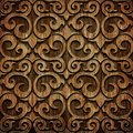 Carved wooden pattern ornament on texture Royalty Free Stock Images