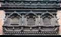 Carved wooden window on bhaktapur palace kathmandu valley nep from th century nepal Stock Photo