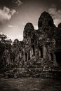 Carving of Bayon Temple at Angkor in Cambodia Royalty Free Stock Photography