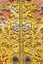 Carving on Door at Pura Ulun Danu Batur, Bali Royalty Free Stock Photos