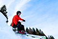 Carving skier Royalty Free Stock Photo