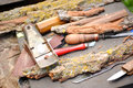 Carving tools Royalty Free Stock Photo