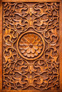 Carving wood detail of an ancient ottoman door hocapaşa mosque istanbul Royalty Free Stock Images