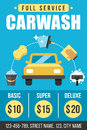 Carwash poster Royalty Free Stock Photo