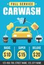 Carwash poster Royalty Free Stock Photo