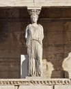 Caryatid ancient statue, erechteion temple, Athens Royalty Free Stock Photo