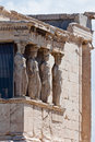 Caryatids Erechteion Acropolis Athens Greece Stock Photos