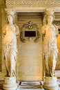Caryatids in the Louvre Museum Royalty Free Stock Photo