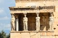 Caryatids portico on Acropolis. Royalty Free Stock Photo