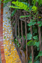 Casa barbey modernist mansion interesting details of the at the town of la garriga the outer wall covered with tiles and the Royalty Free Stock Photography
