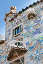 Casa Batllo by Antoni Gaudi in Barcelona, Spain Stock Photos