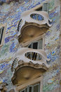 Casa Batllo balconies Royalty Free Stock Photos
