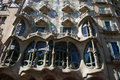 Casa batllo barcelona façade of the extraordinary work of gaudi catalan architect of the modernist period Royalty Free Stock Images