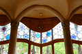 Casa batllo eixample district barcelona spain interior window of la batlló is an modernism masterpiece by architect antoni gaudi Stock Photos