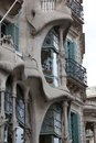 Casa batllo facade of famous house by antoni gaudi barcelona spain Royalty Free Stock Photos