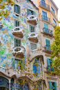 Casa batllo facade of famous house by antoni gaudi barcelona spain Stock Image