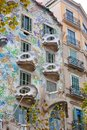 Casa batllo facade of famous house by antoni gaudi barcelona spain Stock Photography