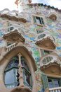 Casa batllo facade of famous house by antoni gaudi barcelona spain Royalty Free Stock Image