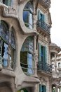 Casa batllo facade of famous house by antoni gaudi barcelona spain Royalty Free Stock Photography