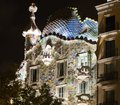 Casa batllo facade of famous house by antoni gaudi barcelona spain Royalty Free Stock Photo