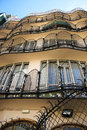 Casa Batllo interior yard, building facade Royalty Free Stock Photo