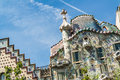 Casa batllo nice view of in barcelona by antoni gaudi Stock Photos