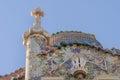 Casa Battlo facade and chimney by Antony Gaudi Royalty Free Stock Photography