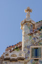 Casa Battlo facade and chimney by Antony Gaudi Stock Image